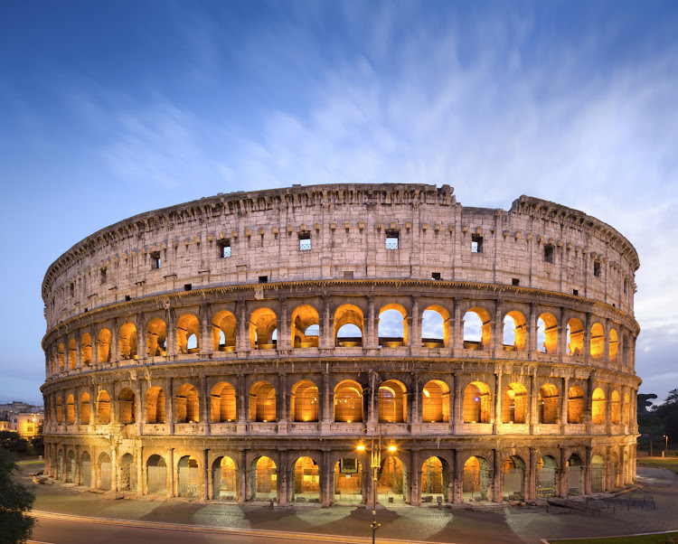 Rome's famous Colosseum was completed in 80 AD.
