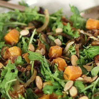 Butternut Squash Baby Kale Salad