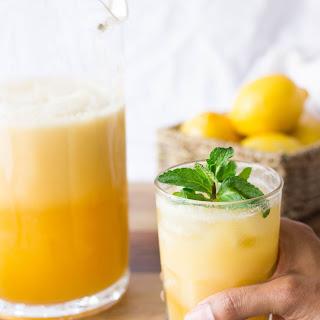 Tropical Peaches & Coconut Cream Lemonade.