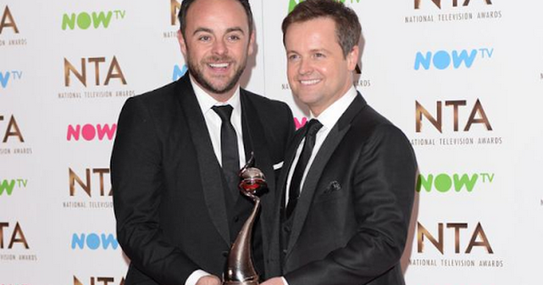 Ant and Dec named favourite work couple