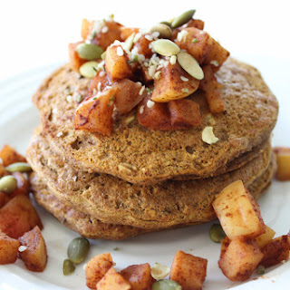 Pumpkin Buckwheat Pancakes (with Spiced Apple Topping) Recipe