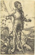 Photo: Albrecht Dürer (German, 1471 - 1528 ), Saint George Standing, c. 1507/1508, engraving, Rosenwald Collection