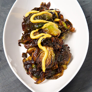 Fried Brussels Sprouts with Curried Sriracha Aioli Recipe