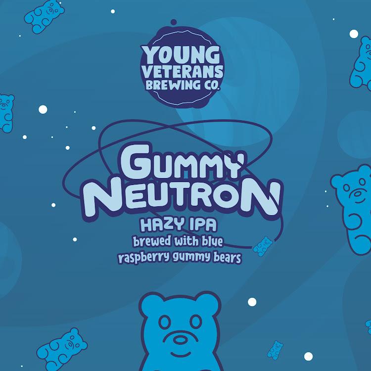 Logo of Young Veterans: Gummy Neutron Hazy IPA with Blue Raspberry Gummy Bears