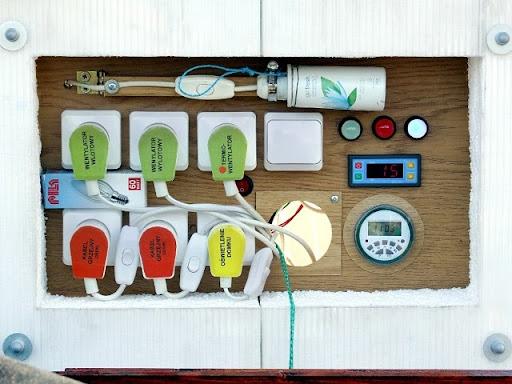 panel sterowania domkiem