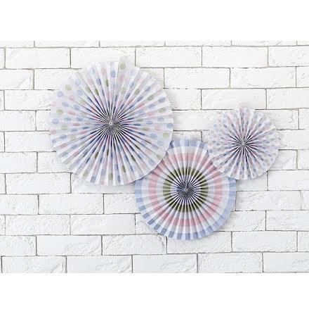 Dekorationsrosetter Pastelove