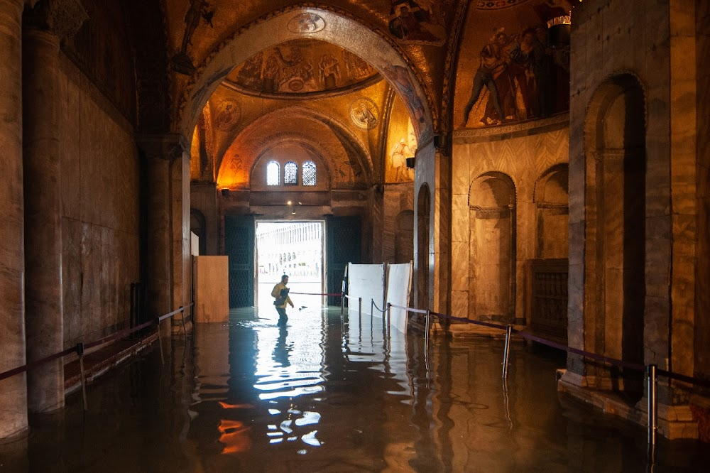 Venice counts the costs after high tide swamps most of the Unesco city