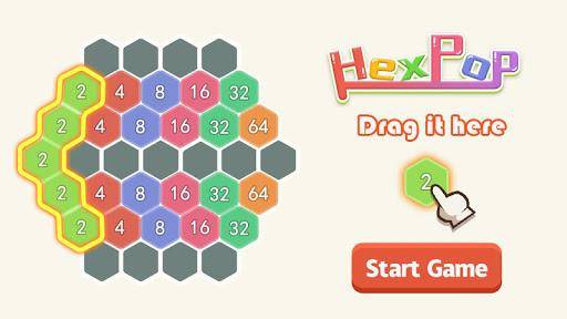 HexPop:Make number to 2048,Free Merge Puzzleu00a0Games apktram screenshots 1