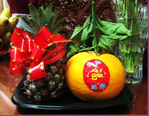 chinese new year lucky fruits