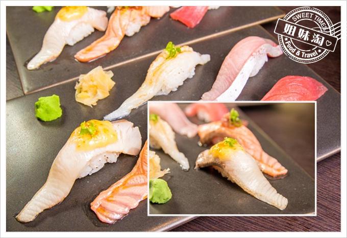 天水玥秘境鍋物店壽司炙燒鰤魚