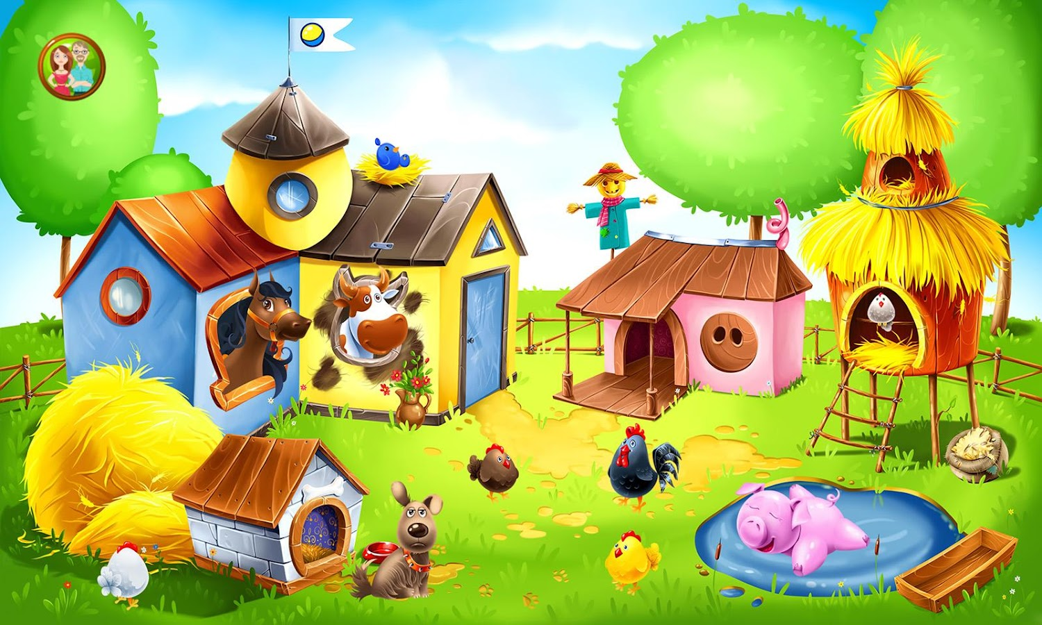 animal farm for kids learn animals for toddlers screenshot