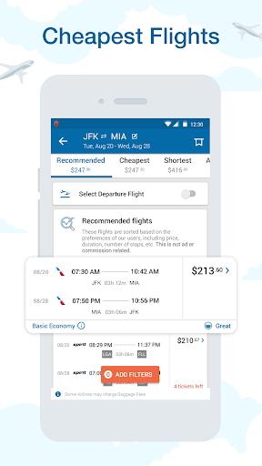 CheapOair: Cheap Flights, Cheap Hotels Booking App 3.19.19 screenshots 1
