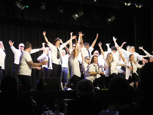 The Stars of Narrabri on stage for the finale of the Dance for Cancer at The Crossing Theatre on Saturday night. From left, Kylie Kelly, Dinos Charalambous, Will Childs, Annie Gordon, Kelly Fry, Adam Hatton, Chelsea Wheeler, Kim Campbell, Jackson Mudford, Lara Richardson, Donna Bower, Jenny Wilson, Natasha Cooper, Di Browning, Joe Gordon, Will Guest, Lauren Grant, Sarah Cameron, Nick McClure and Amara Grant.