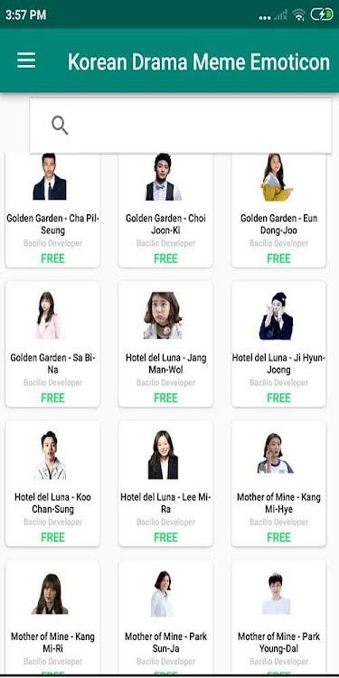 Korean Drama Meme Whatsapp Sticker Wastickerapps Android Apps