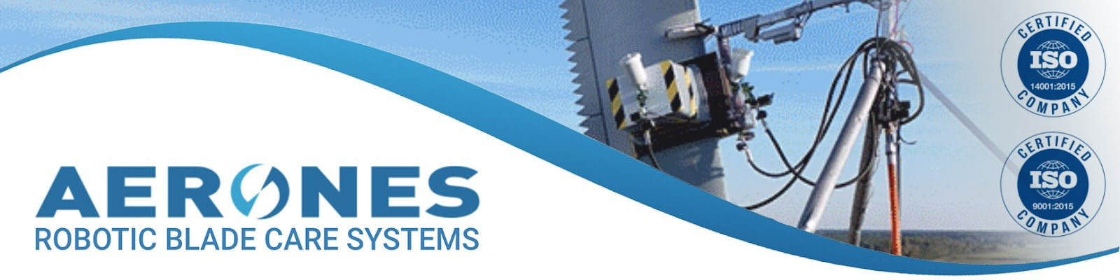 Aerones robotic blade care systems is ISO 9001 and iso 14001 certified