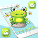 Cute Lovely Green Frog Cartoon Launcher Theme  Download on Windows