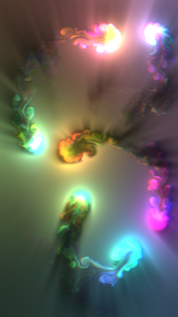 Fluid Simulation - Trippy Stress Reliever Android App Screenshot