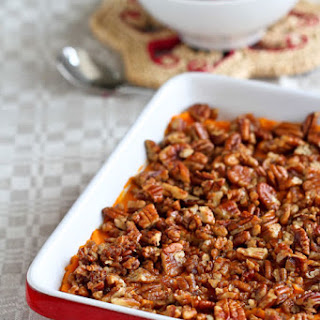 Sweet Potato Casserole With Maple Pecan Streusel