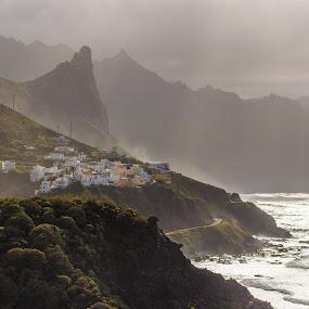 Almaciga, Anaga, Tenerife by Frederik Schulz - City,  Street & Park  Skylines ( atlantic, harsh, rocks, spain, canaries )