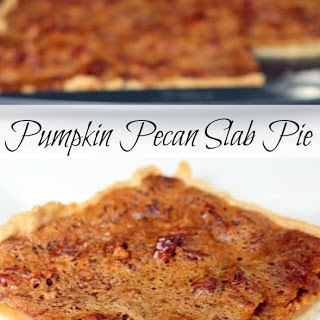 Pumpkin Pecan Slab Pie.