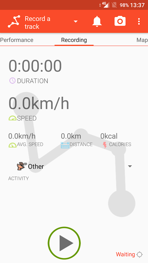 Trackino - GPS Record your tracks- screenshot