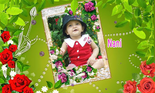 Flower photo frame effects