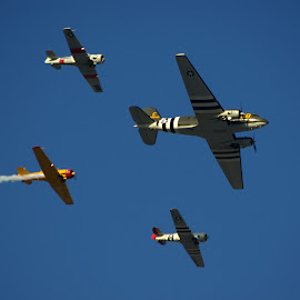 Fly Over by Kirk Barnes - Transportation Airplanes ( b29, fly over, airplanes,  )