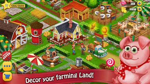 Farm Day Village Farming: Offline Games modavailable screenshots 12