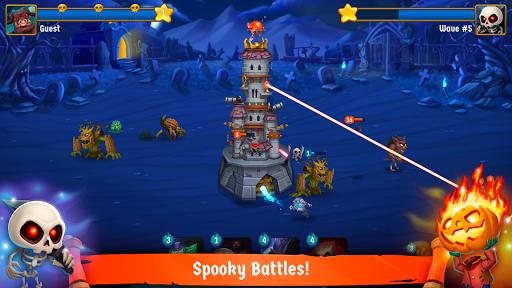 Spooky Wars - Castle Battle Defense Strategy Game screenshots 1