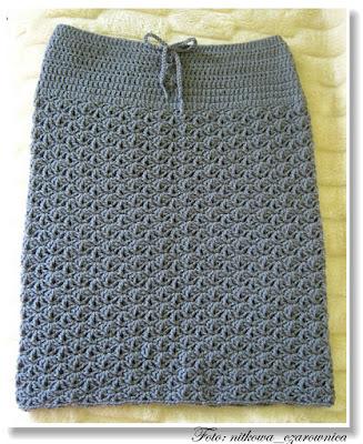 szydełkowa spódnica
