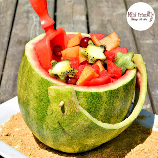 A Fun Shovel and Pail Shaped Watermelon For Fruit Salad