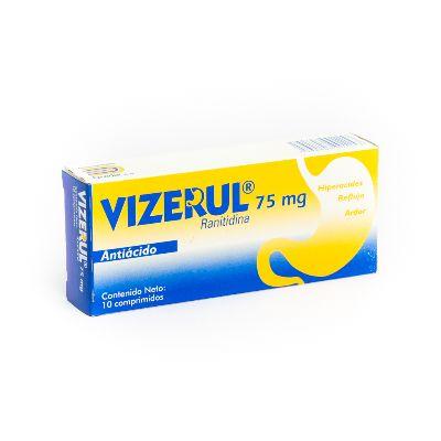 Ranitidina Vizerul 75 mg x 10 Comprimidos