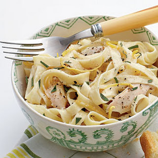 Linguine with Turkey, Basil, and Crème Fraîche
