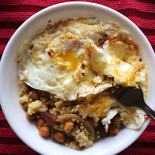 Oven Roasted Chickpea Breakfast Bowl.
