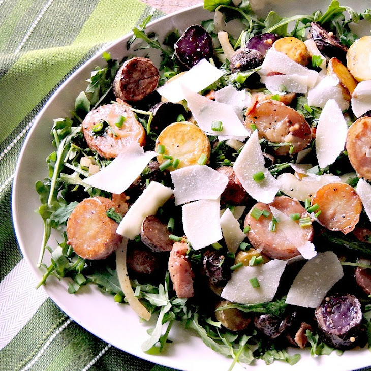 Warm Potato Salad with Arugula Bacon and Browned Butter Recipe ...
