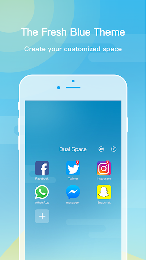 Dual Space - The Fresh Blue Theme for PC