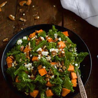 Roasted Sweet Potato Kale Salad.