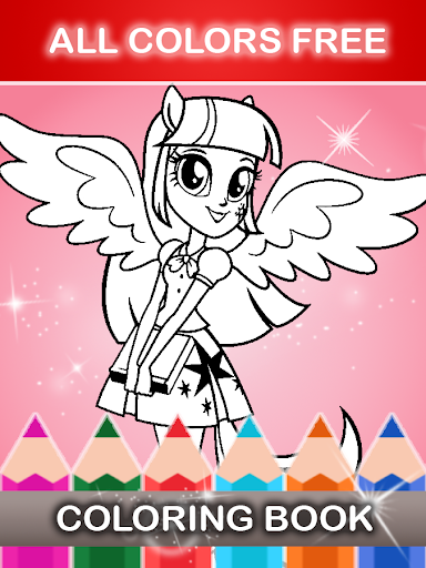 Download Equestrian Girls Coloring Game For PC