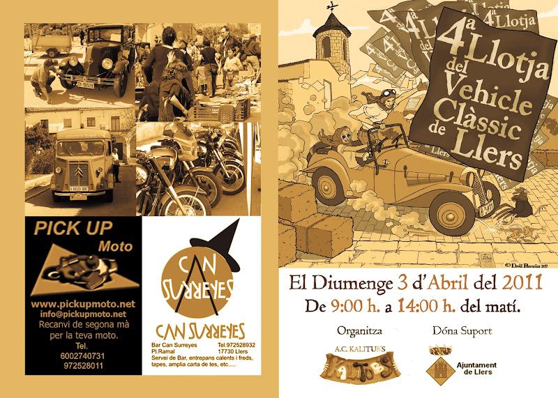 4ª llotja del vihicle clasic Llers  3 de abril Portadaicontraportada2011impremta02