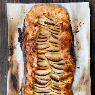 Simple Apple Galette Recipe with Butter Rum Syrup.