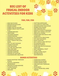 Download Big List of Frugal Indoor Activities for Kids
