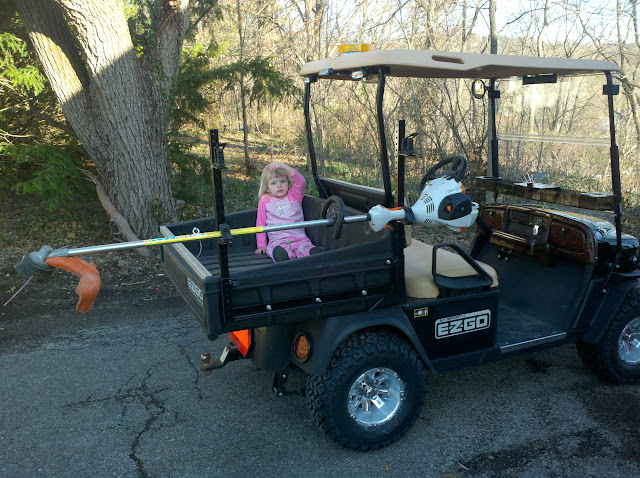 2010 EZGo ST Sport II with Weedeater Rack Golf Carts For Snow Plow In Action Html on