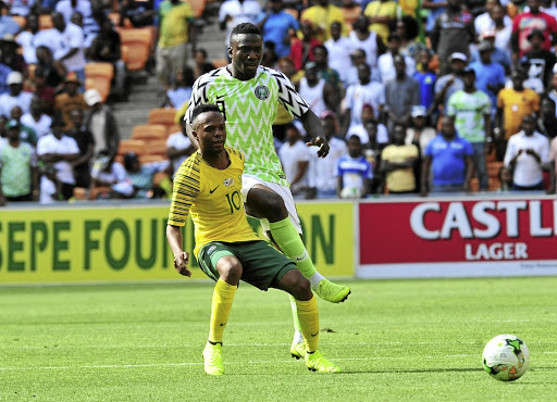 Bafana's Thulani Serero, seen here in action against Nigeria in November, made a dramatic return to the national side after snubbing the team for some time. / Samuel Shivambu/BackpagePix