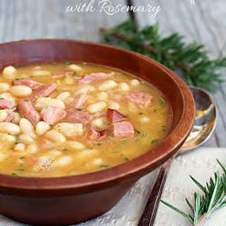Ham and Bean Soup with Rosemary.
