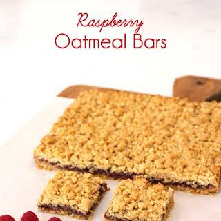 Raspberry Oatmeal Bars.