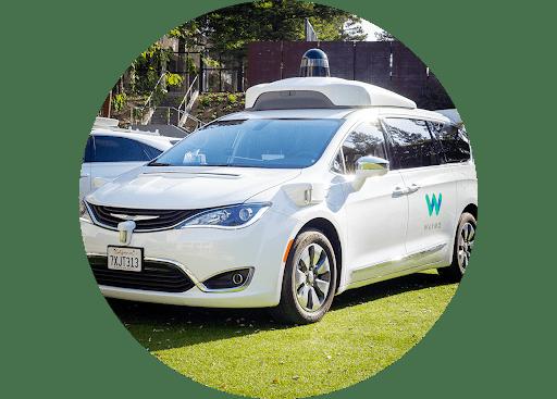 Autonomously driven Chrysler Pacifica Hybrid minivan