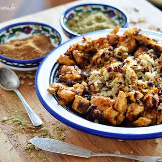 Mujaddara (palestinian Rice & Lentil Dish / Palestyńska Potrawa Z Ryżu I Soczewicy)..