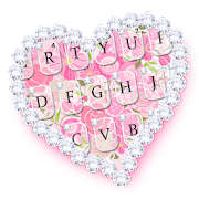 App Diamond Pink Flora Heart Keyboard Theme APK for Windows Phone