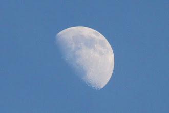 Photo: luna creciente, 22 sep 2015, 17h25m