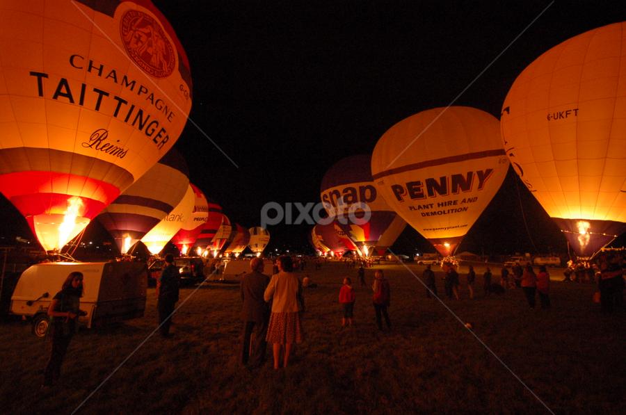 Bristol Ballon Fiesta - Night Glow by Christian Da Costa - Transportation Other ( fiesta, international, hot, air, balloon, bristol,  )